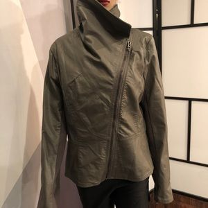 BlancNYC leather stretch jacket.